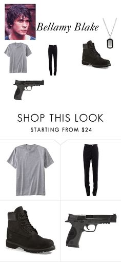 """Bellamy Blake"" by kayla-iz-here on Polyvore featuring TravelSmith, Thom Browne, Timberland, Smith & Wesson, men's fashion and menswear"