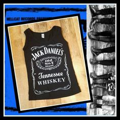 ✖Vintage✖ Punk♥ Jack Daniels Tank♠ Vintage Punk Jack Daniels Tank.  I wore this around this city for many years and this baby has traveled to many a show on both coasts.  In good condition and ready to be reborn again!!   Layer it over your dress and throw on some fishnets!!  ⭐Size small⭐  Shows age on the screen print but in good condition. Vintage Tops Tank Tops