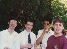 As an American I am proud to know why this photo is so epic. British Comedians are great! (Young John Oliver, Richard Ayoade, and David Mitchell) Richard Ayoade, David Mitchell, John Oliver, British Humor, British Comedy, Funny Photoshop Pictures, Young John, Have A Laugh, Celebrity Photos