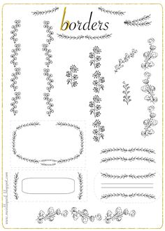 FREE printable ornament doodle borders and tags