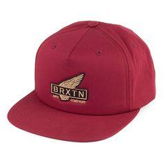 b74596a8d6c Brixton Hats Rawlins Snapback Cap - Burgundy