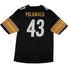 Troy Polamalu Signed Black Replica Steelers Jersey w 2x SB Champs insc - Steelers Great Troy Polamalu has personally hand-signed this Black Replica Steelers Jersey and inscribed it 2x SB Champs. Troy Polamalu was a standout player at the University of Southern California and earned All-American honors and then went to be drafted in the first round by the Pittsburgh Steelers in 2003. Polamalu is a two time Super Bowl Champion an eight time Pro Bowler and a 2010 Defensive Player of the year…