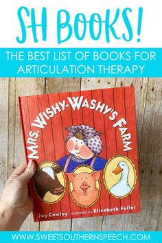 The best list of SH books for articulation therapy. This has all the children's picture books that I use in speech therapy to target the SH sound. Music Therapy Activities, Preschool Speech Therapy, Articulation Therapy, Articulation Activities, Speech Pathology, Speech Therapy Activities, Speech Language Pathology, Language Activities, Speech And Language