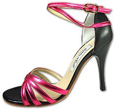Comme Il Faut metallic pink with black
