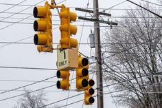 Traffic Light, Utility Pole, Flag Semaphore