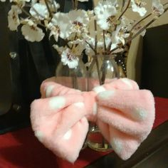 Hair Piece---FREE with $10.00+ purchase FREE when you spend $10 or more. Hair piece to use when you put your make-up on to keep your hair out of your face. Never been used. Fits small heads. Pink and white polka dot. Can find on m. Other