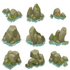 石器大冒险 (45) Landscape Drawings, Landscape Art, Art Drawings, Landscapes, Environment Concept Art, Environment Design, Background Drawing, Game Background, Games Design
