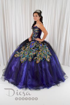 Quinceanera Peacock Dress #10147