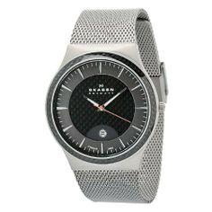Skagen Men's 234XXLT Carbon Fiber Dial Titanium Mesh Watch Watch Skagen. $85.75. Quartz. Case diameter: 44 mm. Carbon fiber dial. Durable mineral crystal. Water-resistant to 30m (99 ft)