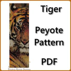 Tiger Peyote Pattern Beading Tutorial PDF от BeadingPattern