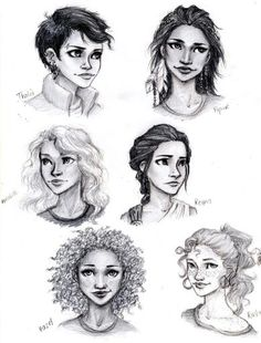 Percy Jackson girls by meahdeloughry. I really like the way Reyna, Rachel and Annabeth are drawn.