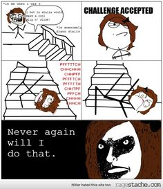 the stair slip n slide we have all done this