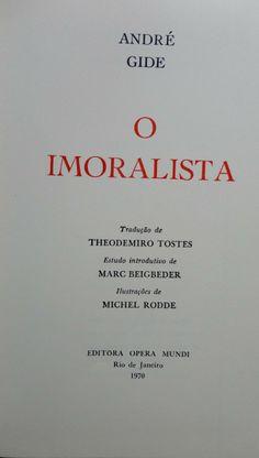 "Andre Gide ""Imoralistas"""