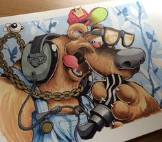 Drawing stuff... #cheo #sketch #bear by cheograff