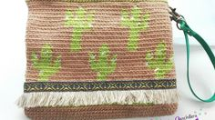Clutch Cactus con Tapestry crochet