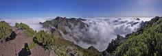 Walk in the clouds on Madiera Island (Portugal). The Peaks - Pico do Arieiro - Pico Ruivo