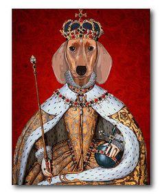 This Dachshund Queen Canvas is perfect! #zulilyfinds