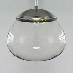 Modern Clear Glass LED Pendant Lighting - Modern Clear Glass LED Pendant Lighting in Chrome Finish