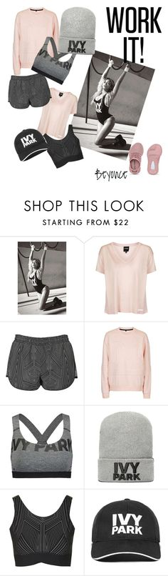"""# workshop it #ivy park #beyonce"" by kellydeblock on Polyvore featuring Topshop and Ivy Park"