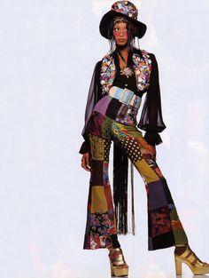 "80s-90s-supermodels:  ""70-90"", Vogue Italia, January 1993Photographer : Walter ChinModel : Beverly Peele"