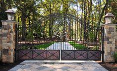 Entrance Gates - Custom design by The Heirloom Companies, Heirloom Stair & Iron