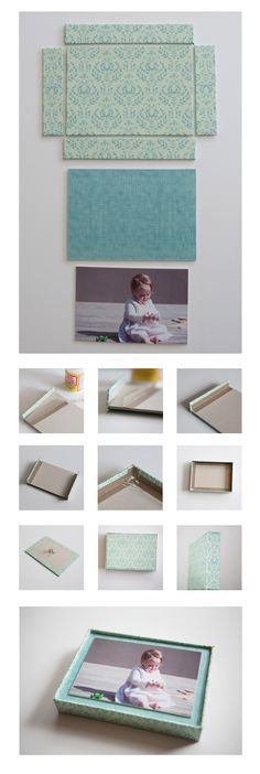 Make your own box frame using card, paper to cover and Mod Podge. Step by step instructions.