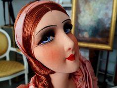 French-Boudoir-doll-poupee-de-salon-1920-rousse-Authentique-comme-neuve-20605