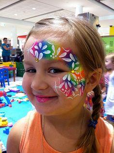 Colourful face paint #snazaroo #facepainting