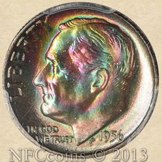 1956 Roosevelt Dime MS68 PCGS FB Vibrant Color - NONE FINER!