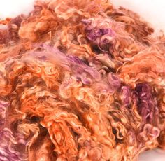 Kid Mohair Locks for Spinning and Felting Fiber- Colorway Fading Sun by HermanHillsFarm on Etsy