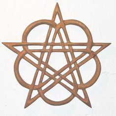 Celtic Healing Pentacle - Heart Pentacle Wood Carved Celtic Knot. $185.00, via Etsy.