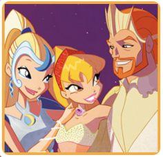 Stella e seus pais rei e rainha de Solária
