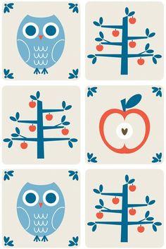 owl pattern ♥ Print & Pattern