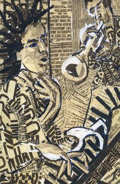 jazz -collage newspaper by ~hamptonrodriguez on deviantART