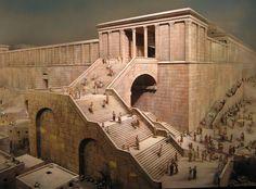 A Templomhoz vezető nagy lépcsősor az ókori Jeruzsálemben