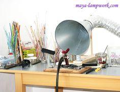 MayaHoney Beads and Life: my lampwork studio - ventilation system Workshop Studio, Studio Setup, Studio Ideas, Studio Layout, Workshop Ideas, Atelier D Art, Ventilation System, Space Crafts, Working Area
