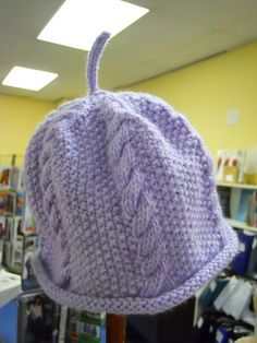 Cable & Seed Stitch Baby Hat