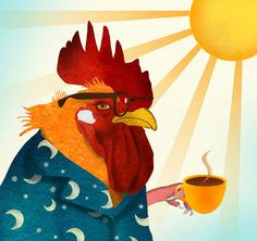The early bird catches the worm but only with the help of a little coffee.