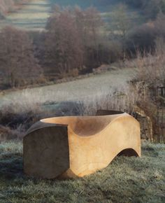 garden bench by Jake Phipps Trunk Furniture, Urban Furniture, Handmade Furniture, Garden Furniture, Furniture Design, Outdoor Furniture, Garden Seating, Salvaged Wood, Dezeen