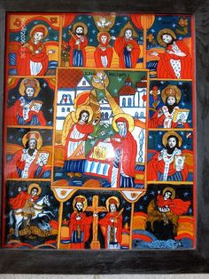 Icoane pe sticla Poza Christian Paintings, Religious Icons, Ikon, Nativity, Religion, Angels, Glass, Nun, Board