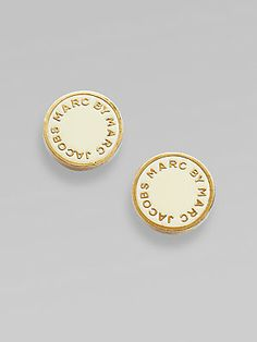 Marc by Marc Jacobs Signature Disc Earrings...in Color: BLACK (not gold)