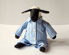 Grandpa Sheep stuffed animal toy for children by andreavida, €34.00