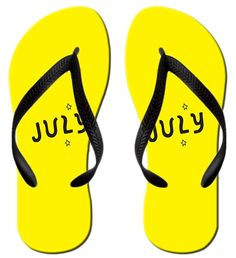 Stylish Lightweight Women's Men's Personalized july V Flip Flops * Click on the image for additional details.