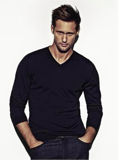 Im thinking Alexander Skarsgard would have made a good Knight in Kathryn Le Veque Romance...he's tall, he's beefy , and he has a fierceness about him. Yum!