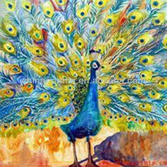 di alta qualità pittura a olio dipinto a mano pavone-Pittura e calligrafia-Id prodotto:1522794385-italian.alibaba.com