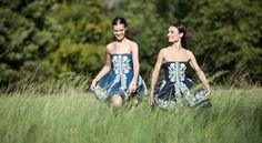 Jana Gavalcova/True Blue/foto Michal Jellinek/models_Nicky a Anička tanečnice z Lučnice Strapless Dress, Blues, Instagram, Tops, Dresses, Women, Fashion, Strapless Gown, Gowns