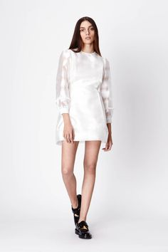 florence dress in white