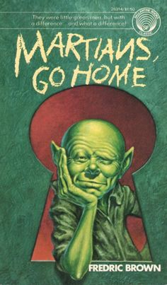 FRANK KELLY FREAS - art for Martians Go Home by Fredric Brown - 1976 Ballantine paperback