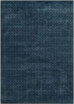 Contemporary Kensington Rug Hand Knotted In India With Wool And Viscose