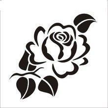 Stencil Patterns, Stencil Designs, Embroidery Patterns, Rose Stencil, Stencil Art, Flower Stencils, Stencil Fabric, Stencil Printing, Wood Burning Patterns